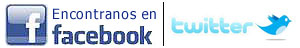 Encontranos en Facebook y twitter